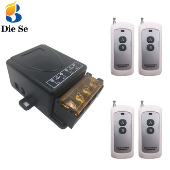 цена на 433 MHz rf Remote Control Switch AC 220V 30A 1CH Relay Receiver 500m long range control for Light/LED/Signal transmission/Fan