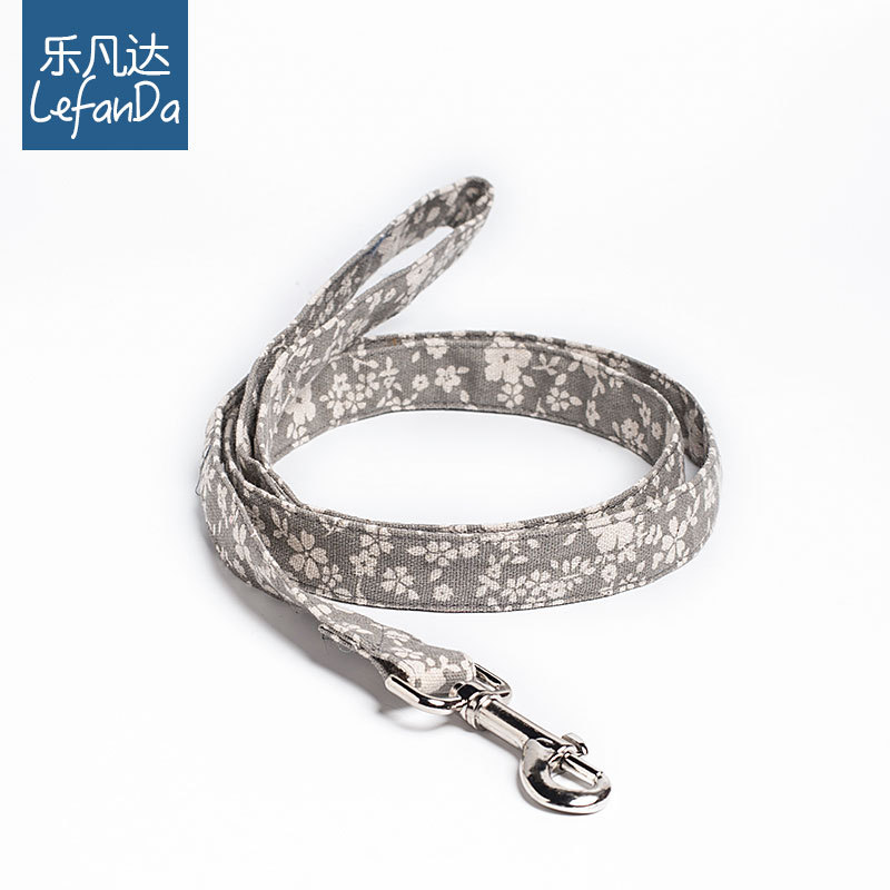 Music Phanda New Style Floral Pattern Pet Traction Hot Selling Haulage Rope Package Dog Teddy Neck Ring Hand Holding Rope