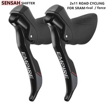 Road Bike Derailleur 2 11 Speed Road Bike Shifters & Shift Cable Gear Lever Brake Bicycle Compatible for Sram rival / force