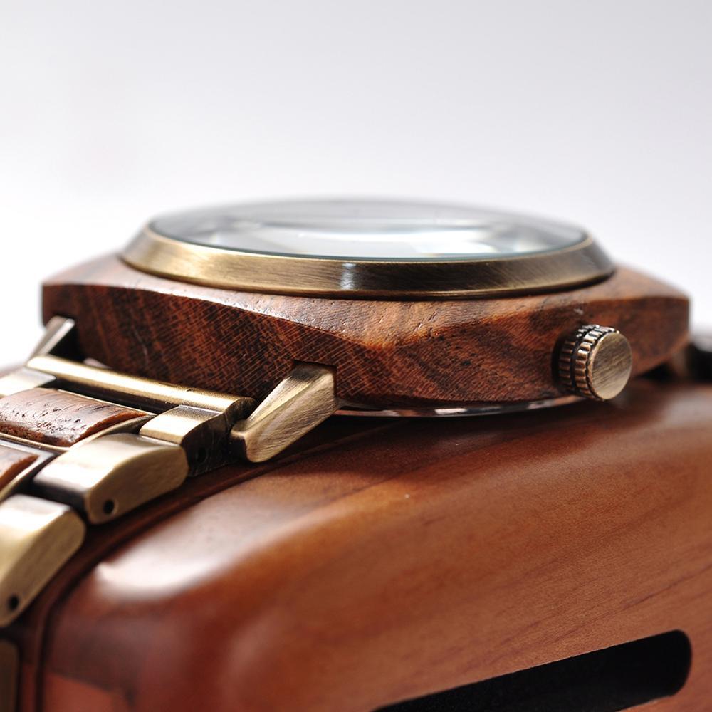Image 2 - relogio masculino BOBO BIRD Watch Men Top Luxury Brand Wood Wrist Watches in Wooden Box erkek kol saati Christmas Gift for HimQuartz Watches   -