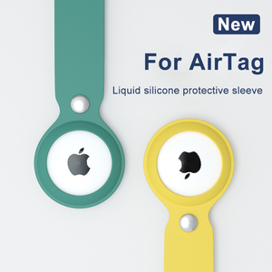 Image 1 - ASTUBIA Soft Liquid Silicone Protective Case For Airtag Cover Hangable Keychain Locator Tracker Cover For airtags Case