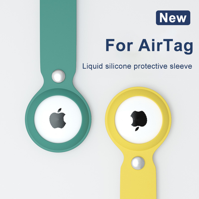 ASTUBIA Soft Liquid Silicone Protective Case For Airtag Cover Hangable Keychain Locator Tracker Cover For airtags Case