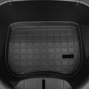 Image 5 - جذع الحصير مخصصة سيارة الخلفي الجذع تخزين حصيرة البضائع صينية جذع مقاوم للماء واقية منصات حصيرة متوافق ل تسلا نموذج 3