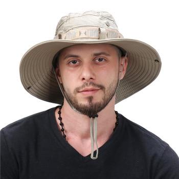 Waterproof Bucket Hat Summer Men Women Boonie Hat Outdoor UV Protection Wide Brim Panama Safari Hunting Hiking Fishing Sun Hat 3