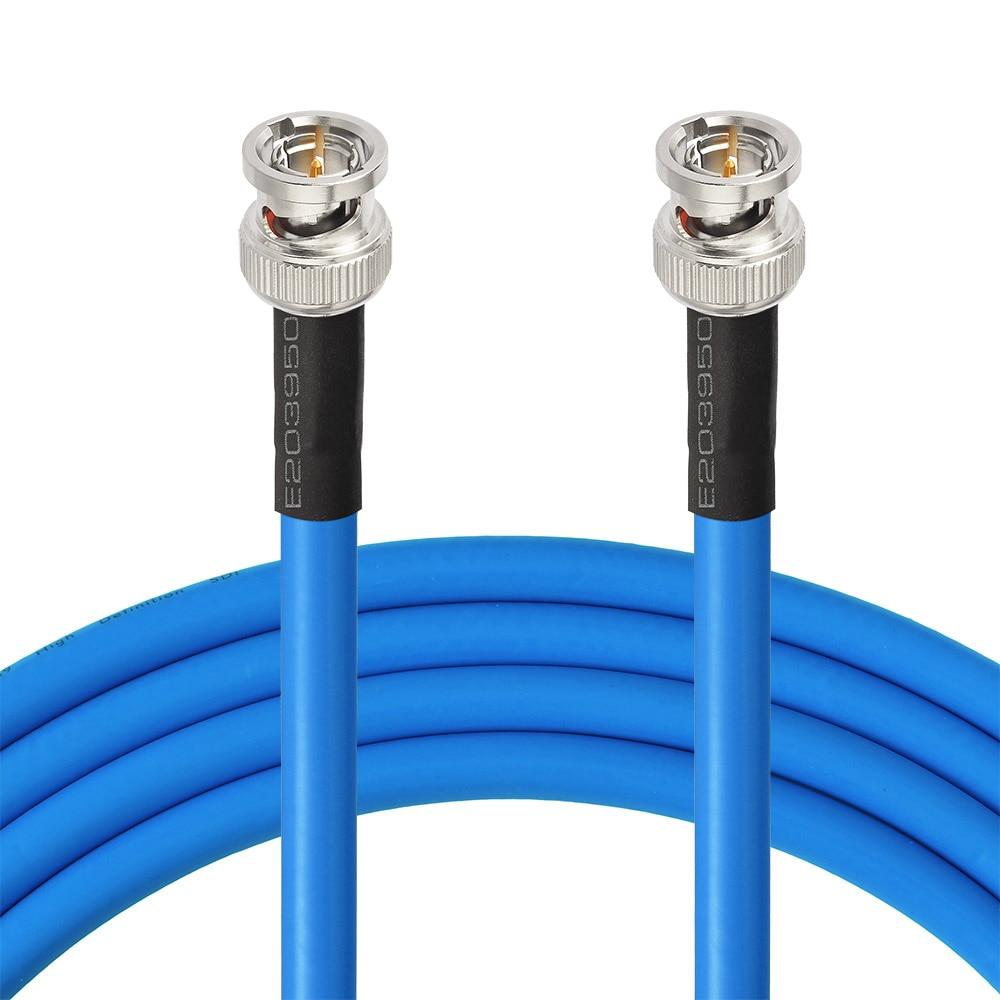 Nintwood-câble SDI HD 30ft BNC | Mâle à BNC 3G 6G (Belden 1694A) pour caméscopes et moniteur professionnels Sony, BlackMagic Red One - 3
