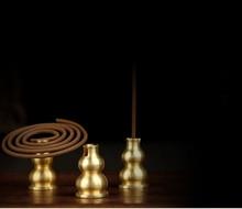 Simple and portable zinc alloy copper gourd incense incense holder incense holder exquisite small line incense incense burner