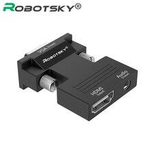 Convertitore HDMI femmina a VGA maschio con supporto adattatore Audio uscita segnale 1080P per proiettore Monitor TV portatile PC multimediale