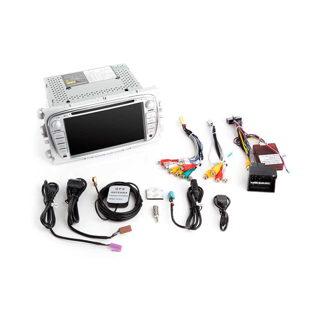 IPS DSP 8 コア 4 グラム 64 グラム 2 ディンアンドロイド 9 車フォードフォーカス 2 3 mk2 モンデオ 4 久我フィエスタトランジット接続-MAXC-MAX マルチメディア