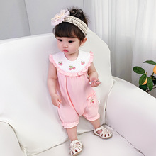 Summer Baby Rompers Embroidery Baby Girl