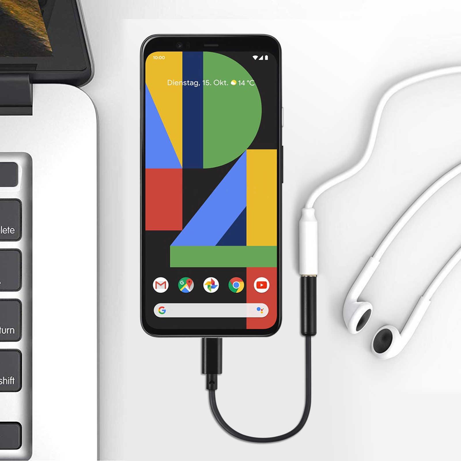 LiNKFOR USB C do 3.5mm wzmacniacz słuchawkowy DAC 32bit/384 kHz USB C do 3.5mm wzmacniacz słuchawkowy DAC dla Google Pixel 2 Huawei