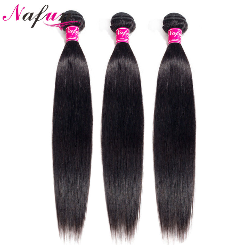 NAFUN Hair Straight Hair Bundles Peruvian Human Hair 30 Inch Bundles Non-Remy Human Hair Extension Free Shipping