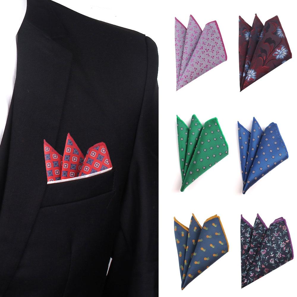 Floral Jacquard Pocket Square For Men Women Classic Hanky Men's Handkerchiefs Suit Square Handkerchief Towels Scarves For Ladies
