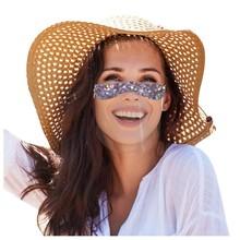 4 sztuk Mini tarcza zmywalny wielokrotnego użytku wygodne maski przezroczyste pcv wizualne maska śmieszne kobieta maski Mascarilla szalik tanie tanio Nowa klasyczna po nowoczesne 120*120*74CM 100 poliester Faceshield mondkapjes reusable facemask children facemask kids facemask