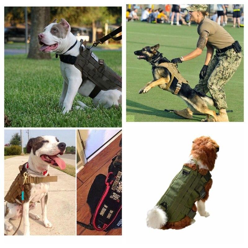 Уличная Военная охотничья одежда для собак, тактическая тренировочная одежда для собак, 600 нейлоновый жилет, пальто, несущий жилет для охоты...