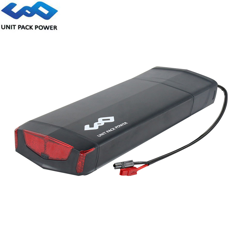 E-Bike Rear Rack Battery 48V 14Ah/36V 17.5Ah Samsung 35E Cell Lithium ion Batteries For 1000W 500W 8Fun BBSHD With Luggage Rack