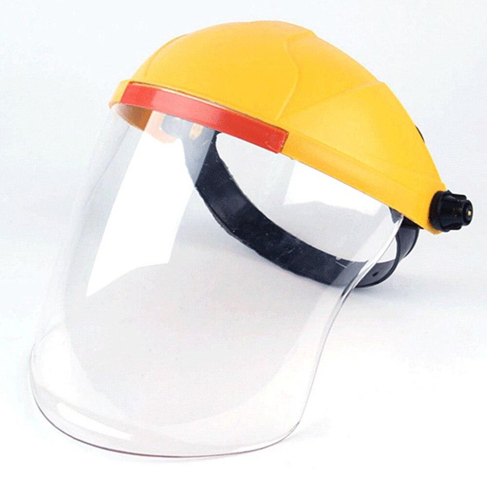 Safety Transparent Lens Protective Full-Face Film Shield Adjustable Plastic Anti-Fog Anti-Droplet Virus  Adjustable Faceshield
