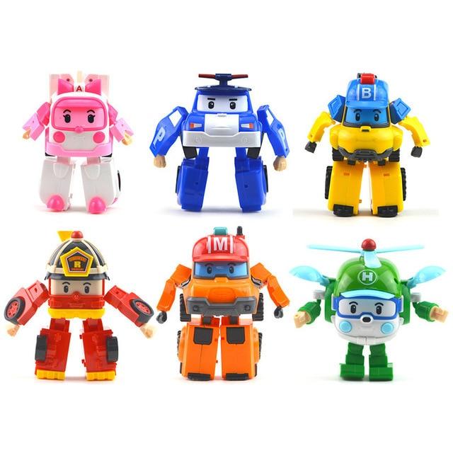 ROBOCAR POLI  Polished Toy Vehicle, Transformed Toy Vehicle, Transformed Toy Children's Transformed Vehicle