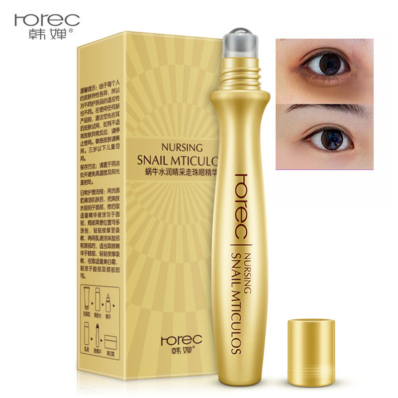 Rorec Snail Eye Serum Remove Dark Circle Anti-Aging Wrinkle Essence Moisturize Hydrating Serum Ease The Fatigue Of The Eye Care