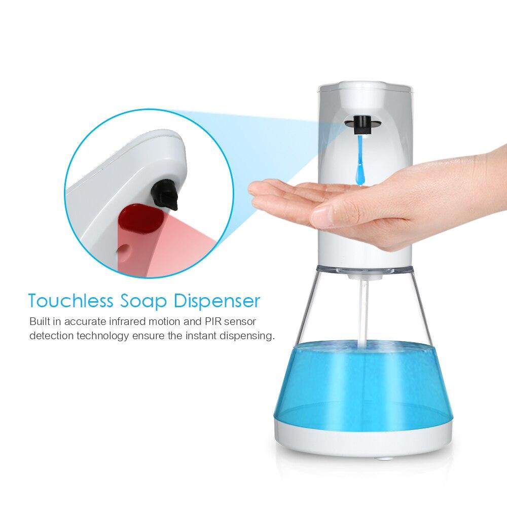 H5cf5bd1722e24c67b87a3f3ef272fb81U Automatic Alcohol Spray Dispenser Touchless Alcohol Sanitizer Disinfectant Liquid Sope Dispensers IR Sensor Bottle for Bathroom