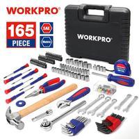 Juego de Herramientas para el hogar utensilio doméstico WORKPRO 165 PC  juego de llaves y destornilladores tool combination home tool kit tool kit -