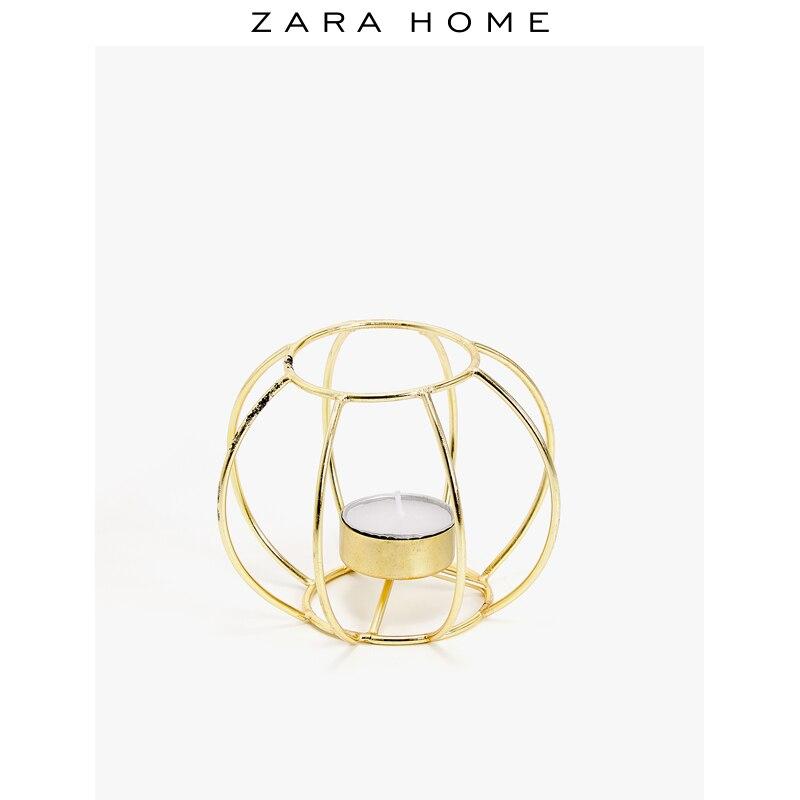 Petit chandelier géométrique en or nordique Simple moderne romantique bougeoir chambre Kaarshouder décoration de Table à la maison MM60ZT