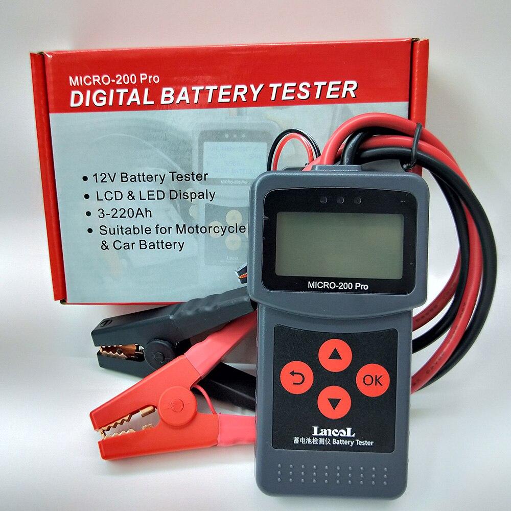 MICRO-200 PRO Car Battery Tester 12V 24V AGM EFB Gel Battery System Analyzer Truck Motorcycle Automotive Car Diagnostic Tool