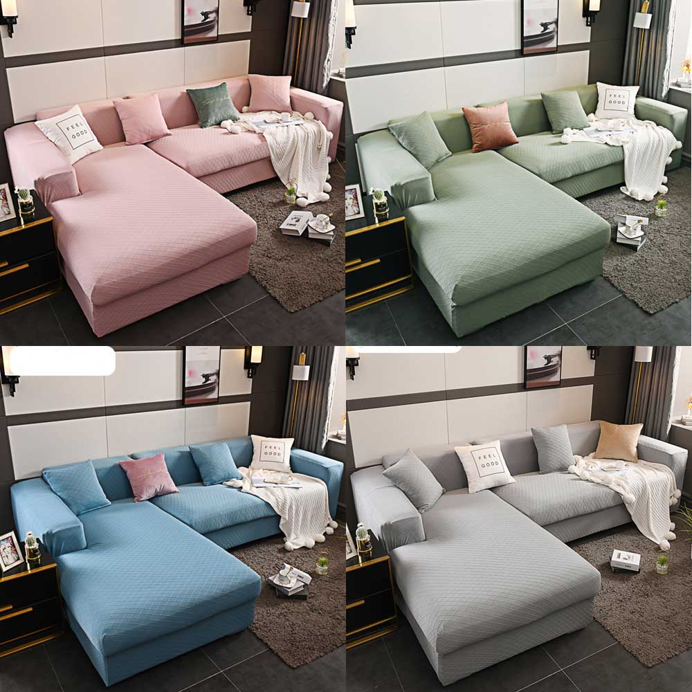 High Quality Velvet Sofa Covers for Living Room Hotel Lobby Rest Room Solid Sofa Cover Elastic Couch Cover Home Decor Fund Sofa