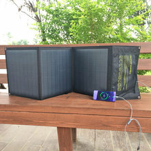 Al aire libre puertos USB rápido Cargador solar plegable QC3.0 18v 60w Puerto DC portátil plegable panel solar para teléfono portátil tablet