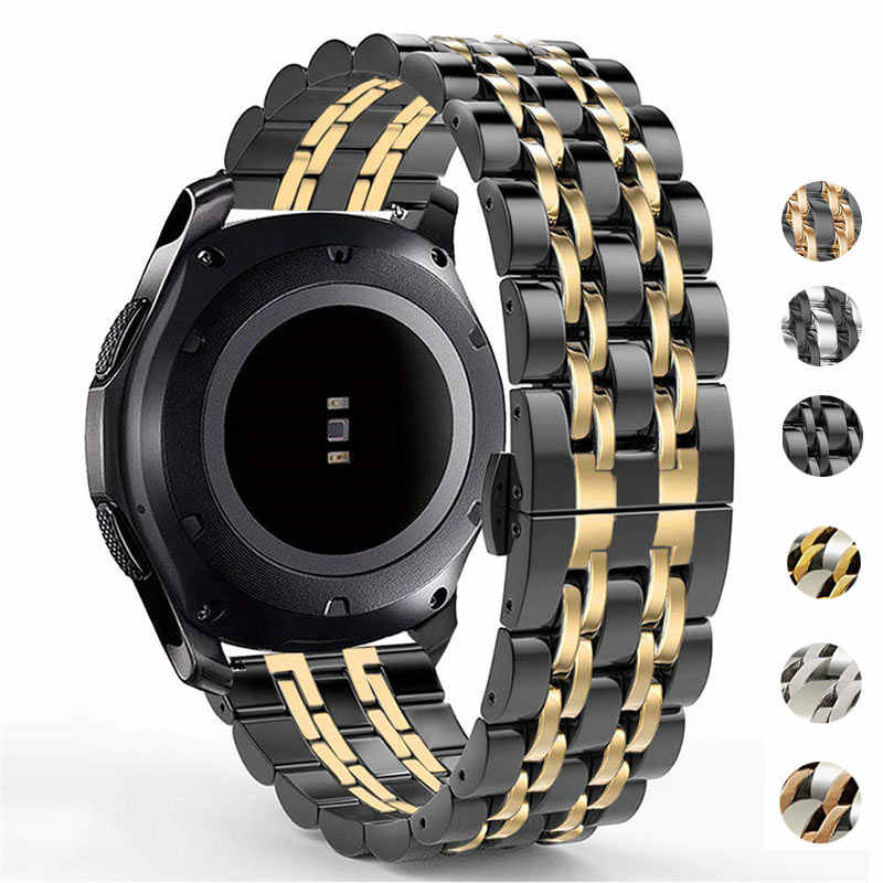 22mm 20mm para Samsung Galaxy Watch 46mm 42mm Amazift Metal sólido Acero inoxidable Correa pulsera para Gear S3