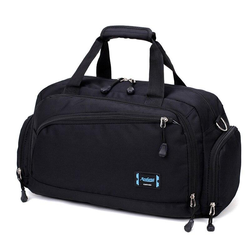 Bolsas de gimnasio para hombre Deporte Paquete de Fitness cilindro un hombro bolsa de deporte bolsos de viaje para mujer bolsas de Nylon bolso de mano impermeable paquete