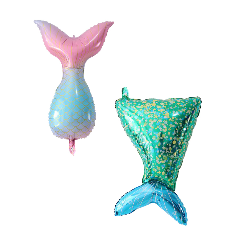 <font><b>10</b></font> 20 50pcs Mermaid tail Foil Balloon Happy <font><b>Birthday</b></font> Balloons for Little Princess Baby Girl <font><b>Birthday</b></font> Party <font><b>Decor</b></font> Kids Gift Toy image