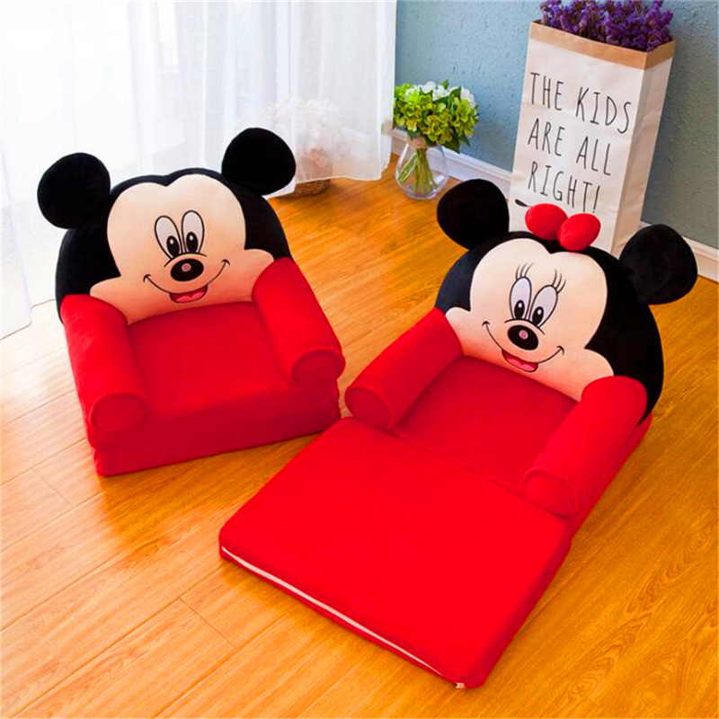 Washed Kids Sofa Fashion Children Sofa Folding Cartoon Baby Mini Sofas Kindergarten Baby Seat Sofa With Filling Home Furniture
