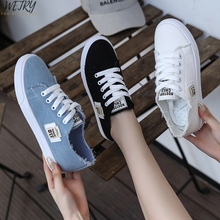2020 Spring Autumn New Style Women Vulcanized Solid Shoes Sneakers Ladies Lace-u