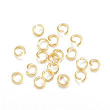 3/4/5/6/7/8/10mm Stainless Steel Jump Rings Open & Split Golden for Jewelry Designer Making Earrings Necklace