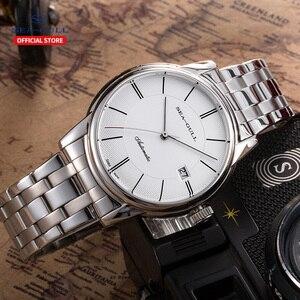 Image 3 - Seagull mens watch business steel belt automatic mechanical watch waterproof leather buckle sapphire mens watch D816.405
