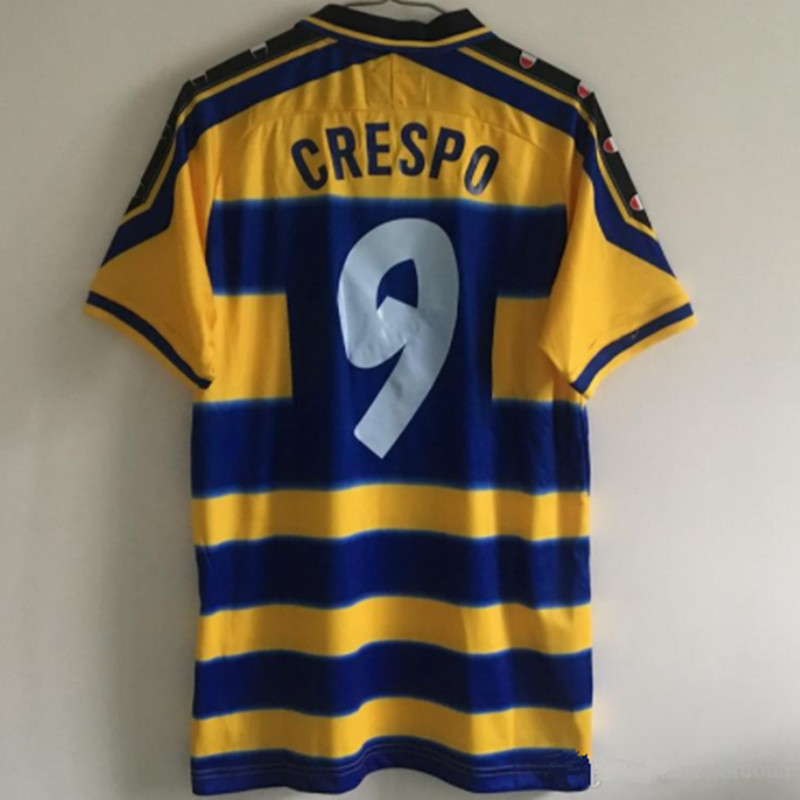 New Retro PARMA 1999 2000 Vintage CRESPO 9 ORTEGA 10 BUFFON 1 Maillot De Foot Soccer Jersey Football Shirt