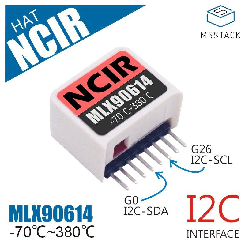 M5StickC ESP32 Mini IoT Development Board Compatible NCIR HAT(MLX90614) Body Temperature Measurement PIR Infrared Sensor Module