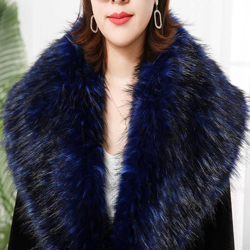 Nerazzurri Extra lange winter faux pelzmantel 2019 runway frauen mode plus größe streetwear flauschigen verdicken warme gefälschte pelz mäntel