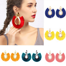 2019 Hot Sale Ethnic Tassel Earrings for Women Big Fringed Fashion Jewelry Female Bohemian Hanging Drop Gift