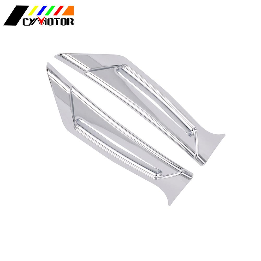 Motorcycle Pair Chrome Front Fairing Intake Vent Scoops For <font><b>Honda</b></font> Goldwing <font><b>Gold</b></font> <font><b>wing</b></font> GL1800 <font><b>GL</b></font> <font><b>1800</b></font> 2012-2014 2015 2016 2017 image
