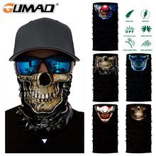 3D Clown Skull Magic Cycling Mask Neck Warmer Face Shield Warmer Outdoor Bike Skiing Fishing Bandana Balaclava Scarf Men Women(China)