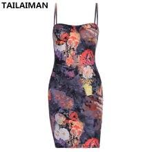 Европейское и американское летнее повседневное модное мини платье