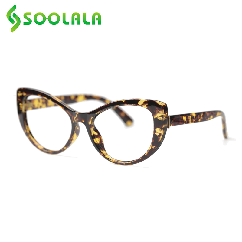 SOOLALA Cat Eye Reading Glasses Women Men Floral Printed Prescription Reading Glasses +0.5 0.75 1.0 1.25 1.5 To 4.0 Eyeglasses