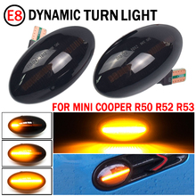 Per Mini Cooper R50 R53 2002 2006 indicatore di direzione a LED dinamico indicatore di direzione laterale per Mini Cooper R52 2004 2008 lampada ripetitore laterale a LED