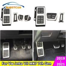 Xburstcar Tapa de pedales de coche, cubierta de reposapiés, embrague de freno, accesorios de Pedal para Volkswagen Vw Jetta 7 VII MK7 7th Gen 2019   2021