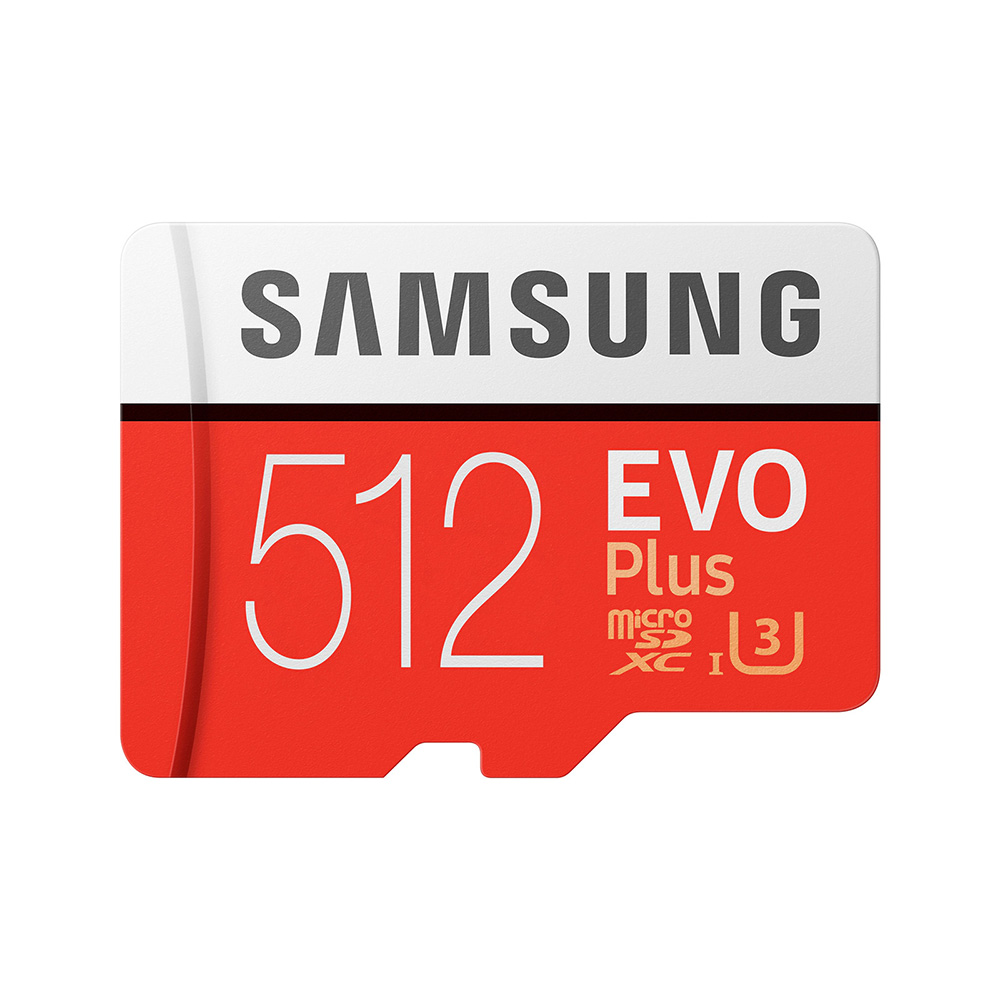SAMSUNG Memory Card EVO Plus 512GB 100MB/s Micro SD Card TF C10 U3 UHS-I 4K SDXC Flash Memory for Smartphone Tablet with Adapter 2
