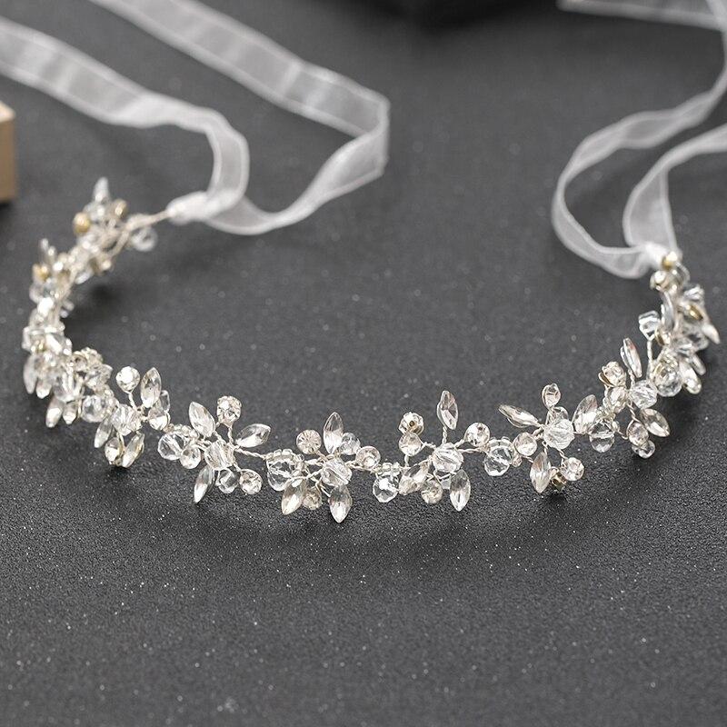 Fashion Silver Color Headbands For Handmade Crystal Rhinestone Tiaras Hairbands Wedding Hair Accessories