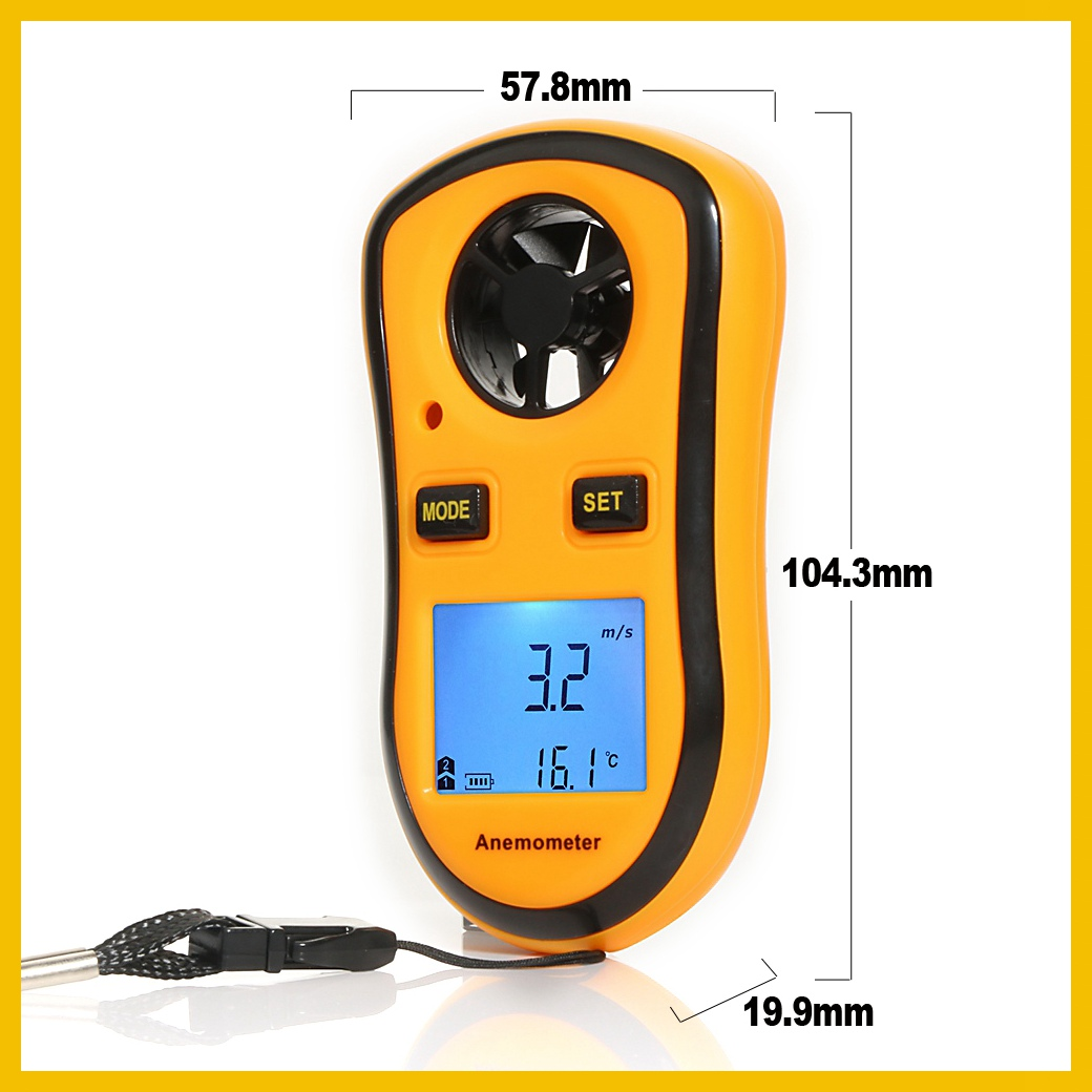 Portable RZ GM816 Wind Speed Meter Used as Anemometer with LCD Display Useful for Windsurfing 26