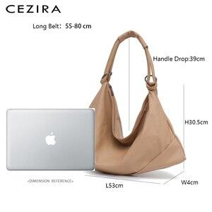 Image 3 - CEZIRA Large Hobo Bags Women Vegan Shoulder Bag High Quality Soft PU Leather Tote Fashion Light Ladies HandBag Crossbody Bag Sac