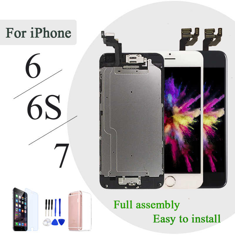 AAA + + para iPhone 6 S pus LCD montaje completo 100% con 3D Force Touch para iPhone 5 S 6 Plus Pantalla de repuesto